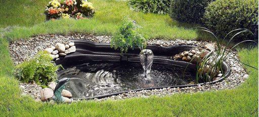 estanque prefabricado jardin con fuente