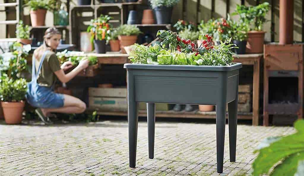 mesa huerto urbano