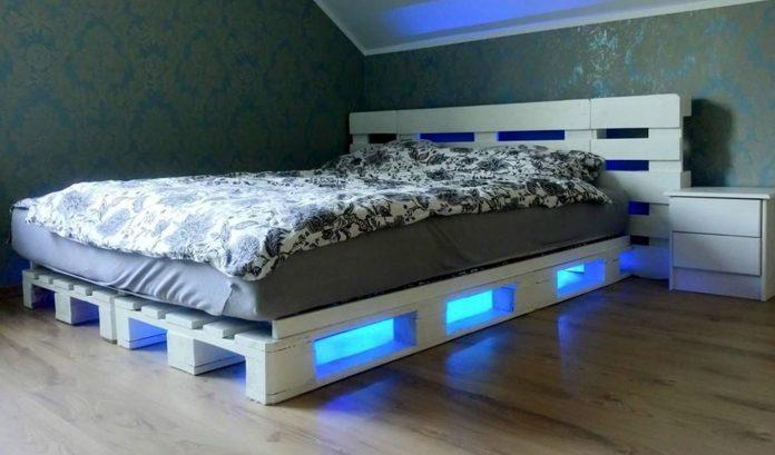 iluminacion led cama de palets