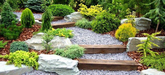 jardin con piedras