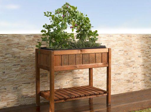 mesa madera cultivo