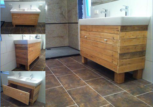 mueble lavabo con palets