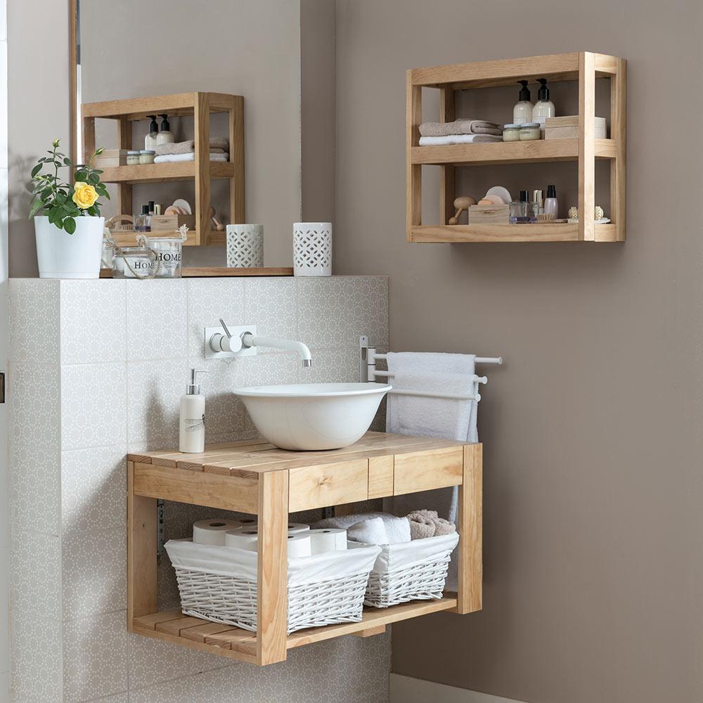 lavabo y estanteria de palets