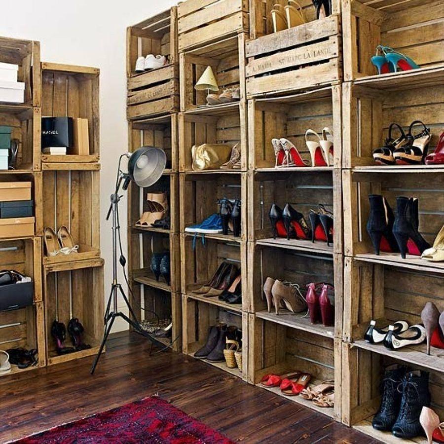 Estanterias zapatos con palets