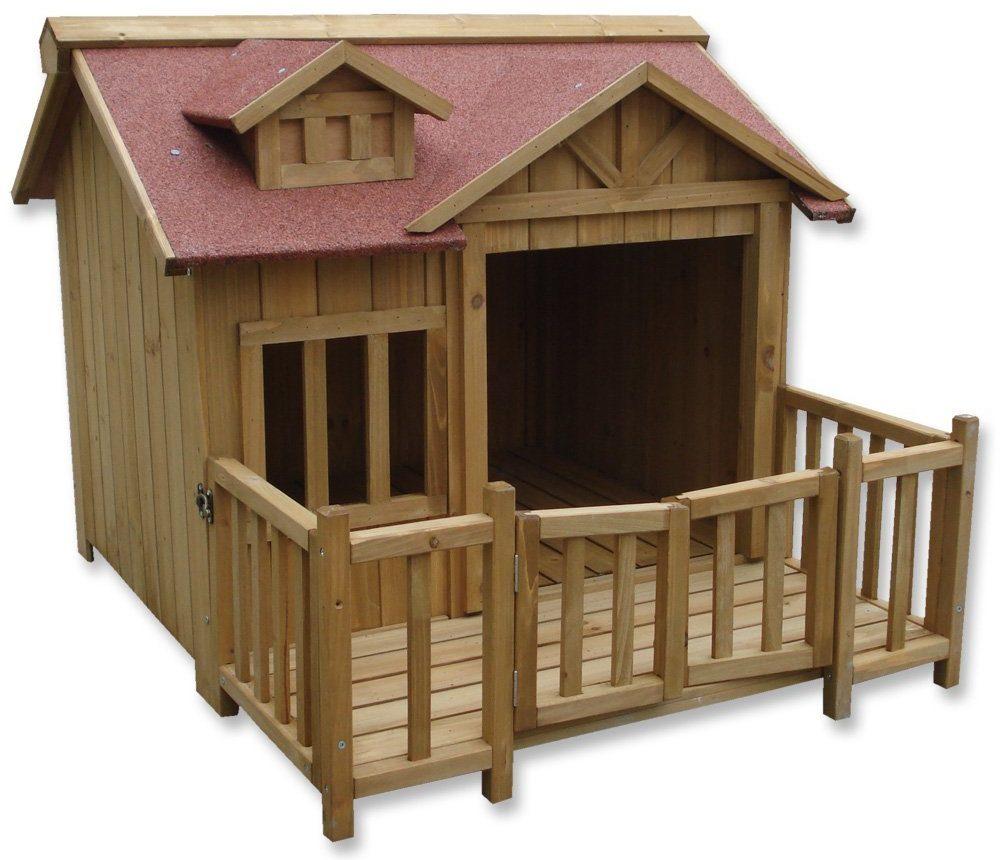 caseta perros madera