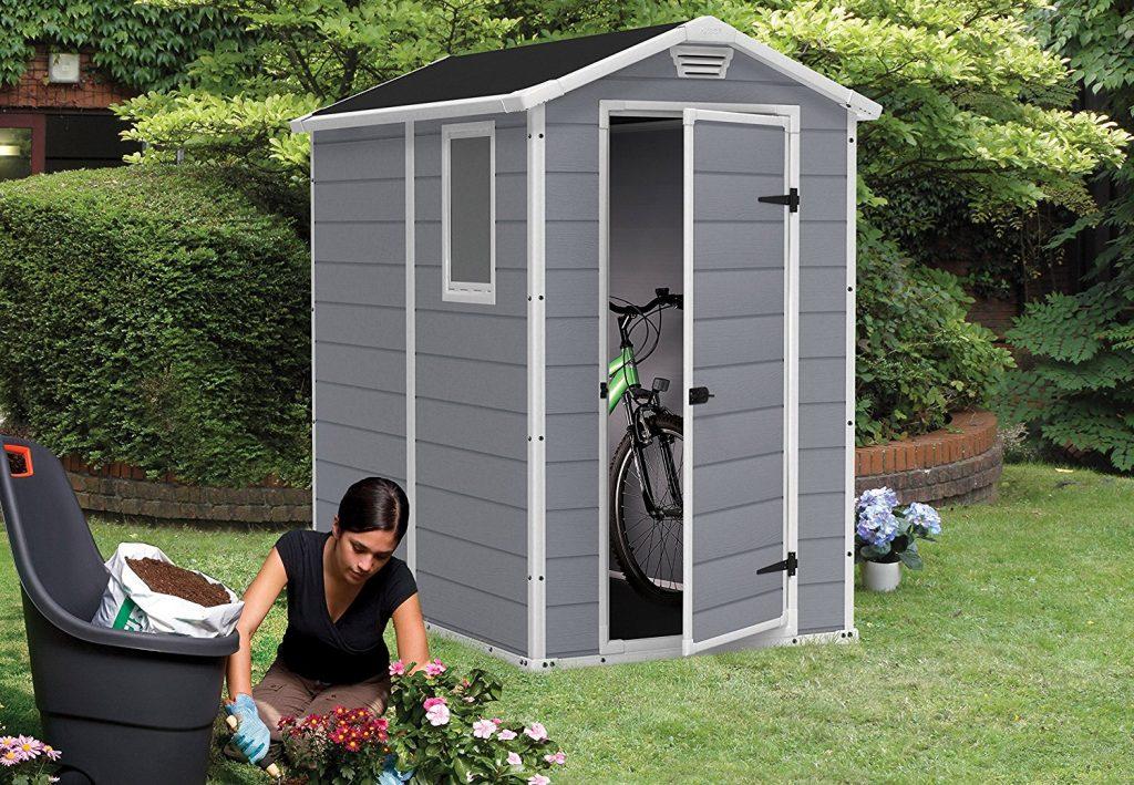 caseta almacenamiento jardin