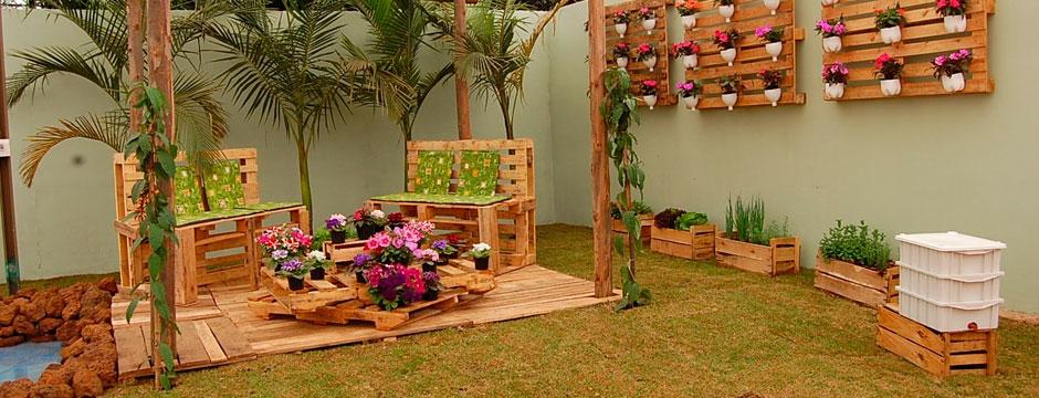 Decoraci n con palets mejores precios y ofertas 2019 - Jardines decorados con madera ...